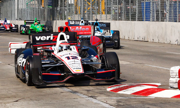 Will Power leads train through Baltimore chicane