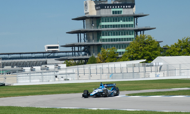 IMS Road Course test with Graham Rahal