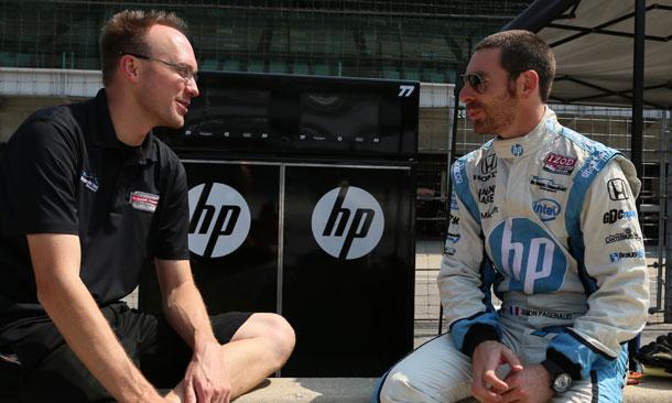 Simon Pagenaud and Ben Bretzman
