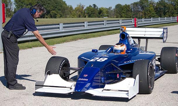 Lloyd Read and Bryan Herta Autosport