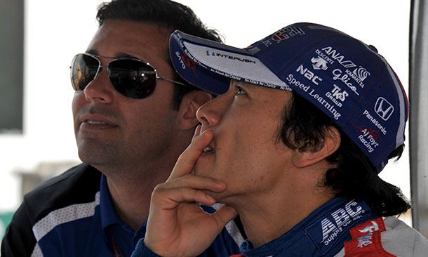 Larry Foyt and Takuma Sato