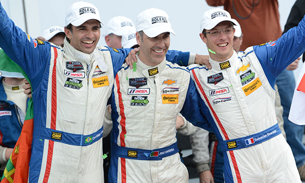 Christian Fittipaldi, Joao Barbosa, and Sebastien Bourdais