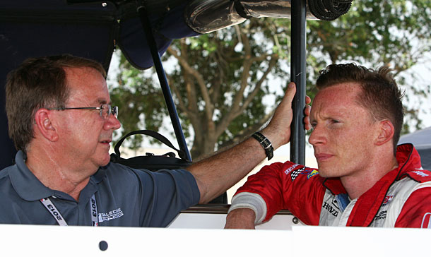 Veteran engineer John Dick, left, has joined Rahal Letterman Lanigan Racing as technical director