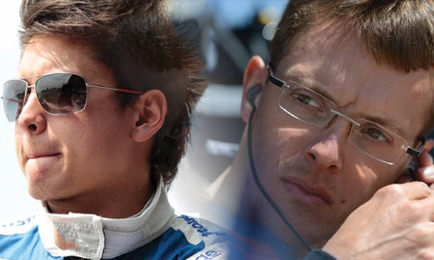 Sebastian Saavedra and Sebastien Bourdais