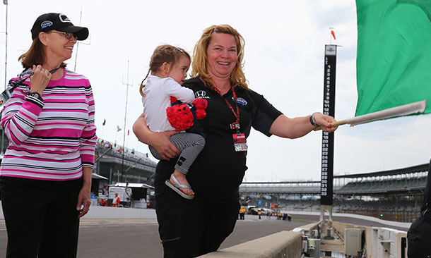 Sarah Fisher and Famiily