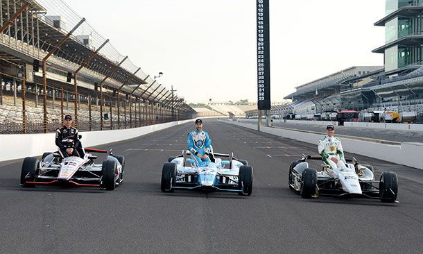 Will Power, James Hinchcliffe, and Ed Carpenter