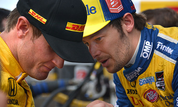 Marco Andretti and Ryan Hunter-Reay