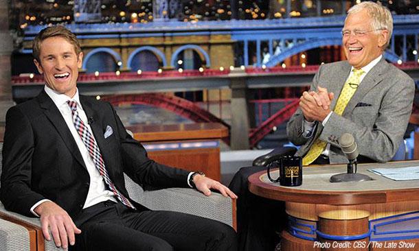 Ryan Hunter-Reay and David Letterman