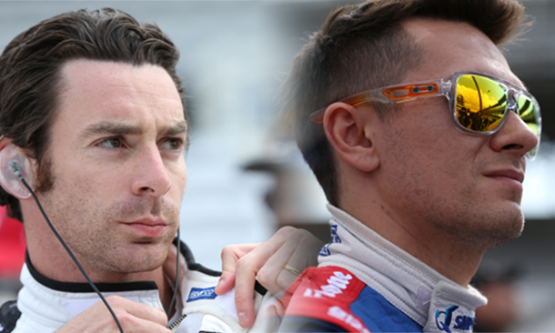 Simon pagenaud and Mikhail Aleshin