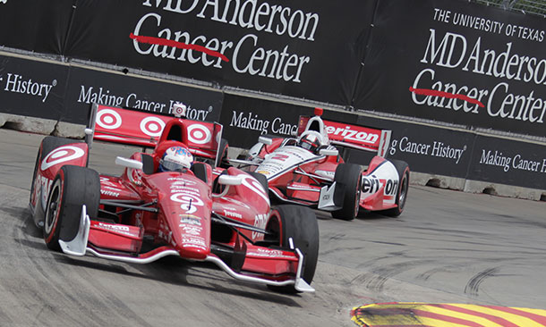 Scott Dixon and Juan Pablo Montoya