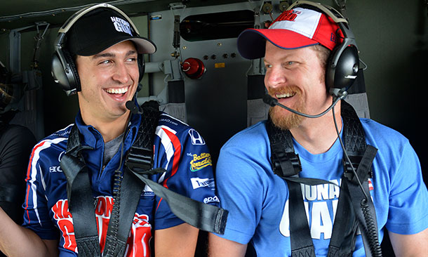 Graham Rahal and Dale Earnhardt, Jr.