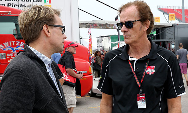 Arie Luyendyk and Kenny Brack