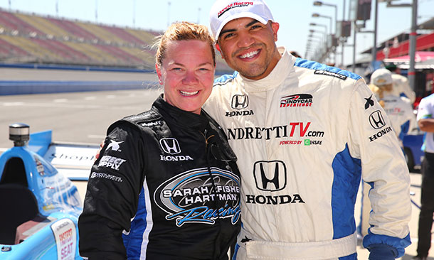 Sarah Fisher and Victor Ortiz