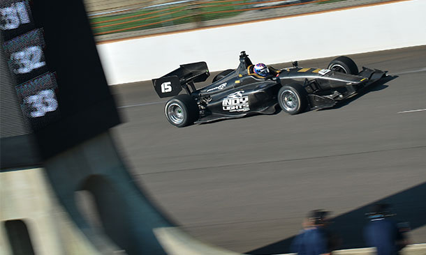 Scott Dixon in IL-15 Car