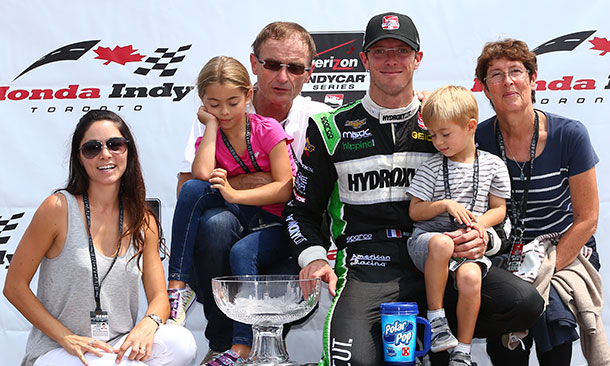 Sebastien Bourdais and family