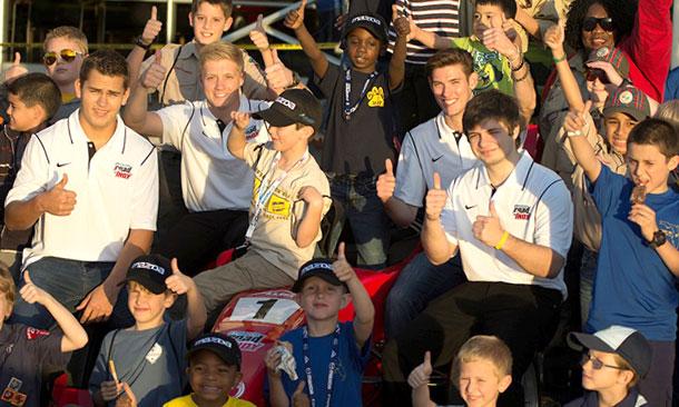 RC Enerson, Spencer Pigot, Matthew Brabham, and Ethan Ringel