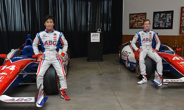 AJ Foyt, Takuma Sato, and Jack Hawksworth