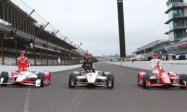 Scott Dixon, Will Power, and Simon Pagenaud