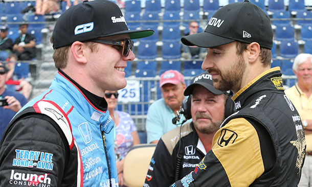 James Hinchcliffe and Conor Daly