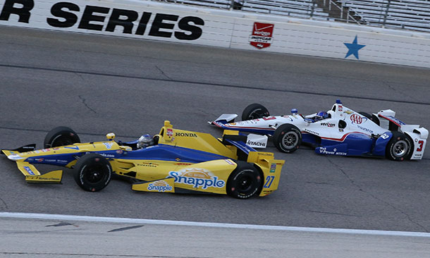 Marco Andretti and Helio Castroneves