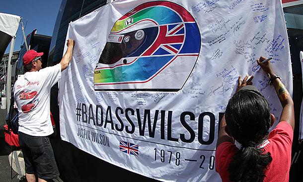Justin Wilson Tribute Flag