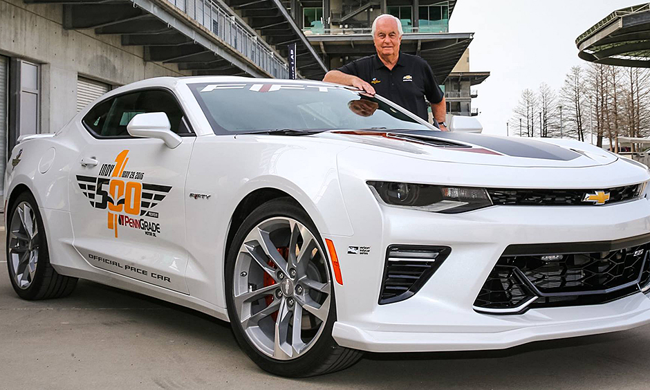 penske to drive 50th anniversary camaro ss pace car at 100th indianapolis 500. Black Bedroom Furniture Sets. Home Design Ideas