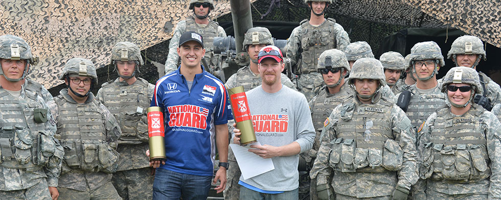 Indiana National Guard shows Rahal the ropes
