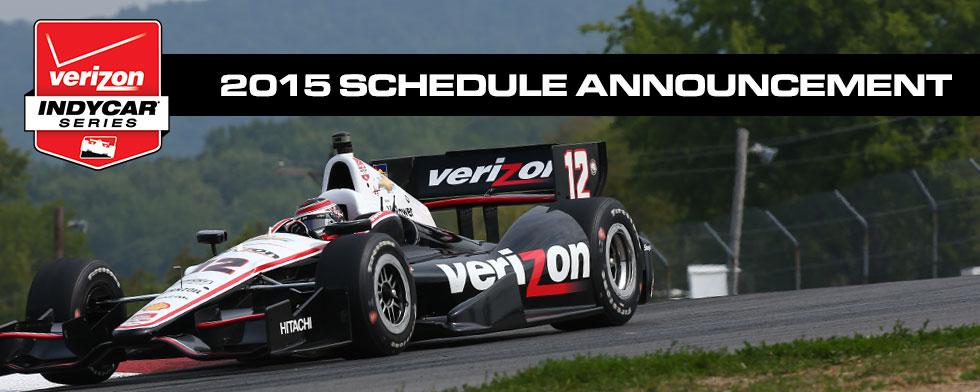 INDYCAR unveils diverse 17-race schedule for '15