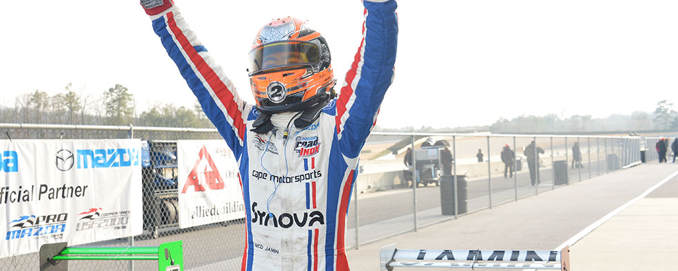 Jamin claims USF2000 title in Cooper Tires Winterfest