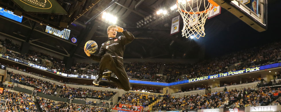 Newgarden's NBA debut is high-flying slam dunk