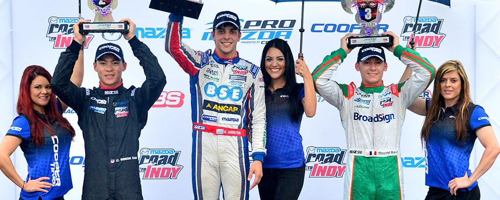 Urrutia claims victory in third Pro Mazda start