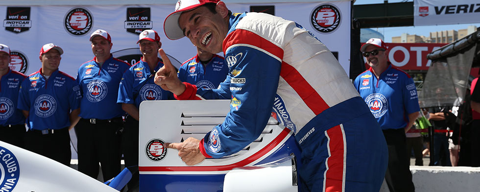 Castroneves makes fast work of track record