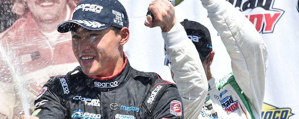 Tan wins Pro Mazda thriller for Andretti team