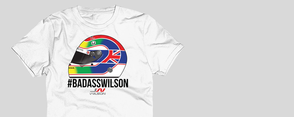 Wilson tribute T-shirt available online, at track