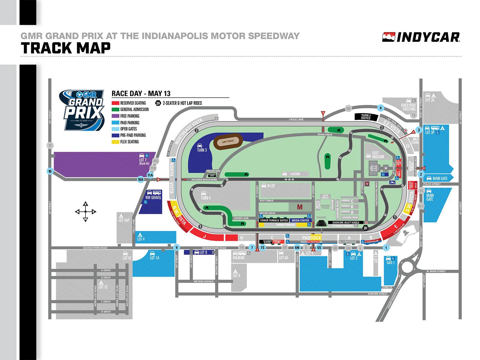 Indianapolis Motor Speedway Track Map - impremedia.net
